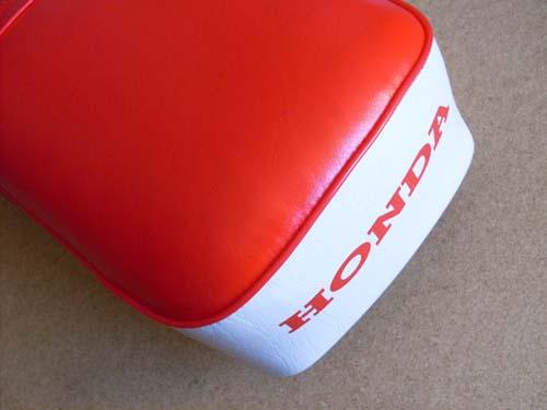 Honda Long Seat Saddle Red White Cover C50 C100 C102 H2692